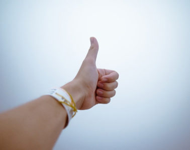 Thumbs up hand gestures