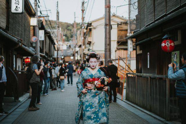 Geisha Walking down a Street