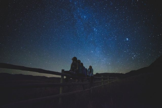 stargazing with friends UK